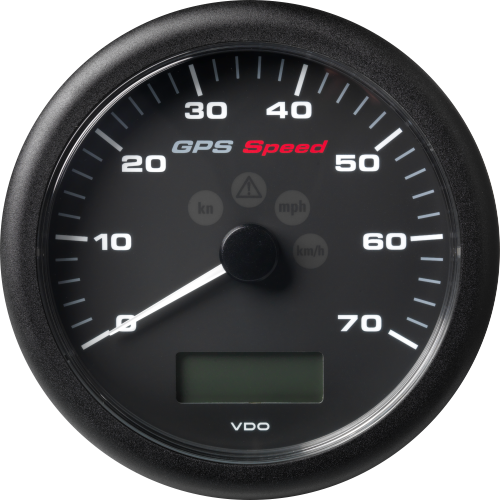 ViewLine GPS Speedometer with LCD 110 mm Black 0 - 70 kn/kmh/mph