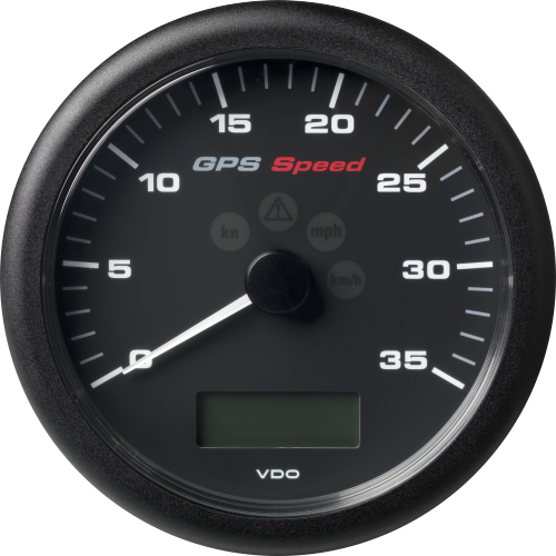 ViewLine GPS Speedometer with LCD 110 mm Black 0 - 35 kn/kmh/mph