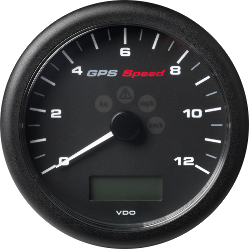 ViewLine GPS Speedometer with LCD 110 mm Black 0 - 12 kn/kmh/mph